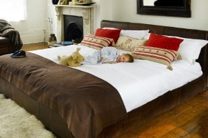 Very long bed bases, divans and large headboards from The Big Bed Company