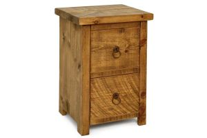 plank bedside table
