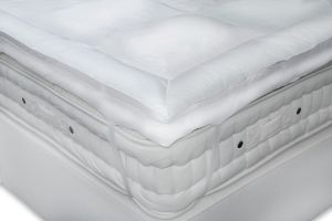 extra long and wide duck down and feather mattress pads